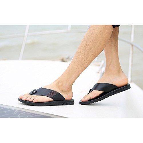 Nero dimensioni Scarpe Pantofole EU39 Scarpe Da Da Sandali Da Antiscivolo Uomo 5 Colore Casual UK6 Spiaggia Traspirante Festa Scarpe Estate Ottimizzata Scarpe YQQ Nero Maschili Accogliente C4tqd1P1