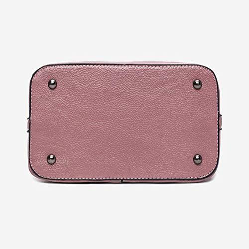 LQQAZY Sac Diagonale Bandoulière Simple Pink Paquet Sac Main à Seau Sac Femme 0xz0wqaHr