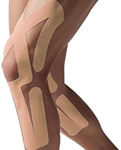 Spidertech Full Knee Therapeutic Precut Kinesiology Tape (Beige)