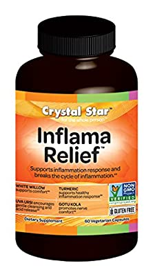 Crystal Star Inflama Relief Herbal Supplements, 60 Count