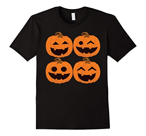Mens Funny Pumpkins Of Halloween T Shirt For Magic Night Idea Tee XL Black (Ideas For A Halloween Night)