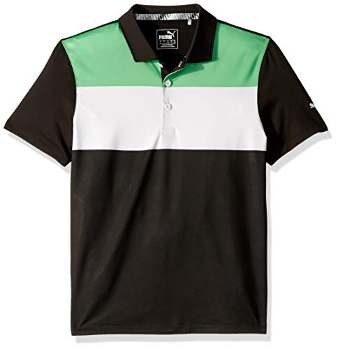 Puma Golf Boys 2019 Nineties Polo, Irish Green-Puma Black, x Large