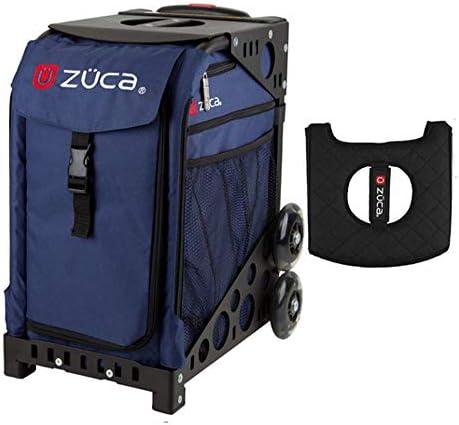 Z?CA INC Zuca スポーツバッグ - ミッドナイト ギフトブラック/ピンクシートカバー付き (ブラックフレーム)