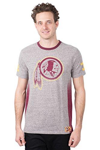 ICER Brands Adult Men T Vintage Ringer Short Sleeve Tee Shirt, Gray, Large