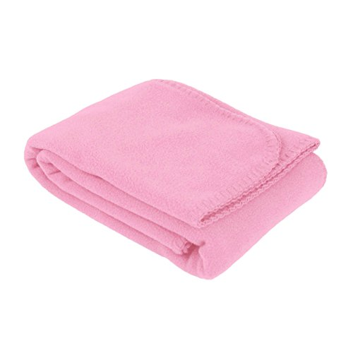 (US Quality Super Soft Cozy Fleece Throw Blankets for Beds, Travel, House and Pets (Rose Pink))