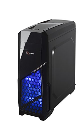 Rosewill CASE Nautilus Gaming ATX Mid Tower Computer Case, Supports up to 380 mm Long VGA Card, 3 Fans Pre-Installed, Side-Window Panel by Rosewill (Image #3)