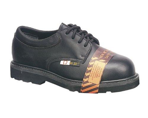 Composite Toe Eh Oxford (AdTec Mens Black 4in Composite Toe Oxford Shoes Leather Uniform 13 W)