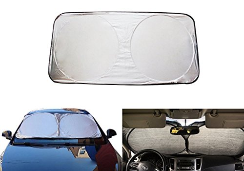 Icegirl Car Windshield Sun Shade Protector Windshield Sunshade Jumbo Premium Folding UV Protector Exterior Shield Guard Extra Large for Car Truck SUV (Windshield ()