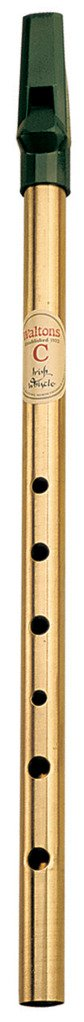 Waltons Whistle Brass - Fun & Colorful Brass Whistle - Key of C - Irish & International Instrument - Perfect for Beginners, Intermediates, and Experts
