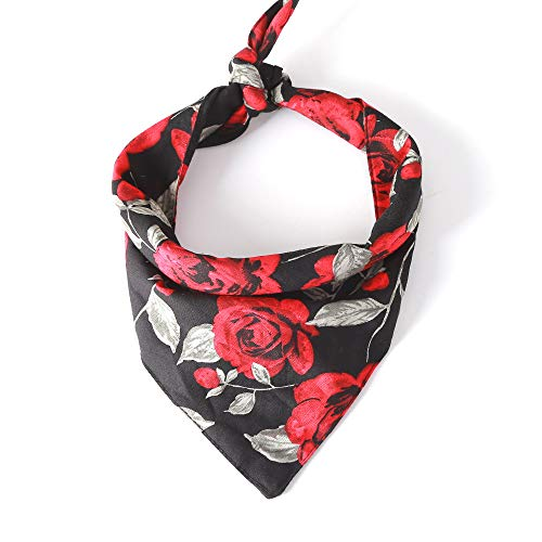 - Rainlemon Dog Bandana Rose Flower Puppy Collar Vanlentine's Day Wedding Pet Neckwear