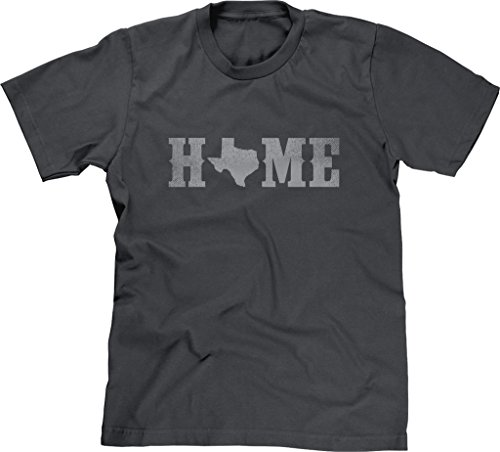 Blittzen Mens T-shirt Home Texas State O, L, Charcoal