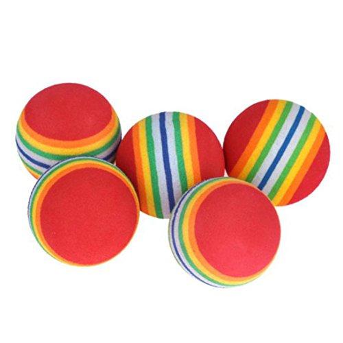 Yeefant Rainbow Stripe Foam Sponge Practice Golf Balls Swing