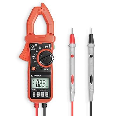 Auto-ranging Digital Clamp Meter, Eventek ET820 Potable Automotive Multimeter Amp/Ohm/Volt AC/DC Diode Multi Tester