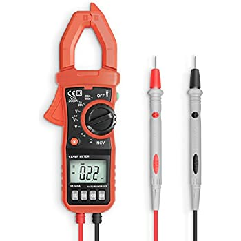 T-RMS Digital Clamp Meter, 4000 Counts Eventek ET820 Auto-ranging Multimeter with NCV For Measuring Non- contact AC/DC 600V Volt/ 600A Amp/ Frequency/ Resistance/ Capacitance/ Continuity/ Diodes