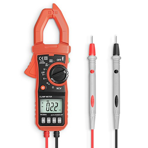 Digital Clamp Meters, Eventek ET820 600A Auto-ranging Multimeter Best For Measuring Amp/Ohm/Volt AC/DC Multi Tester with Backlight