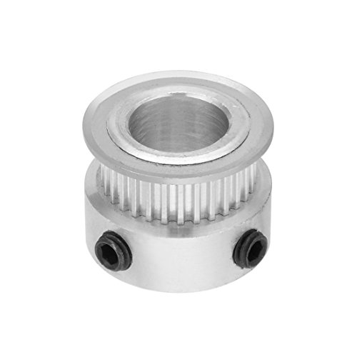 uxcell Aluminum MXL 30 Teeth 12mm Bore Timing Belt Pulley Synchronous Wheel Silver Tone for 6mm Belt 3D Printer CNC