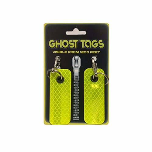 Ghost Tags Large Metal Clip Pet Safety Reflector Visible from 1200 Feet!