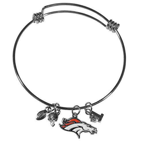 Nfl Charm Bracelet (NFL Denver Broncos Charm Bangle Bracelet)