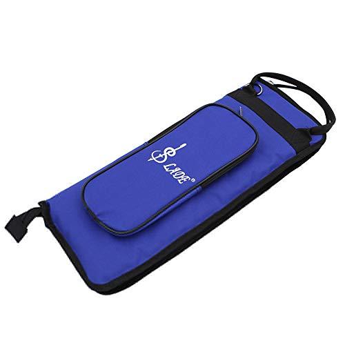 lyna2D6 Portable Thicken Oxford Cloth Waterproof Drum Sticks Storage Bag Case Holder - Blue ()