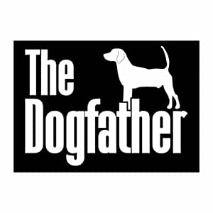 Teeburon The dogfather North Country Beagle Pack of 4 Decal