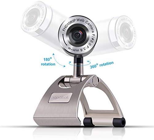 PAPALOOK PA150S Webcam Full HD 1080P Cámara Web Alta Definición con Micrófono Incorporado para PC, Portátil, Web CAM de USB Plug and Play para Youtube, Skype, Compatible con Windows 7/8 / 10