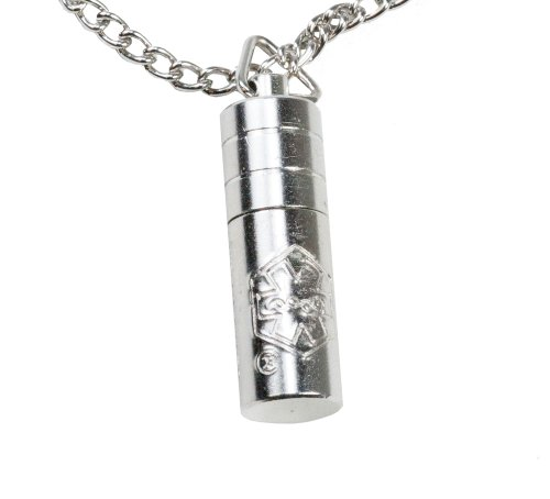 Chrome Plated Solid Brass Nitro Pill Fob with 26 Stainless Steel Chain by GMS