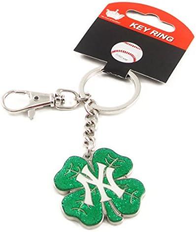 New York Yankees - MLB Shamrock Key Tag With Clip