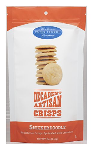 The Famous Pacific Dessert Company Decadent Artisan Crisps, Snickerdoodle, 5 Ounce -