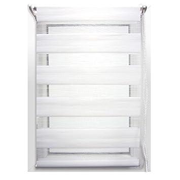 Store enrouleur jour/nuit (90 x H180 cm) Blanc: Amazon.fr: Cuisine ...