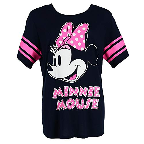 Disney Minnie Mouse Plus Size Short Sleeve Jersey Shirt, 2X, Blue Disney Womens Minnie Mouse