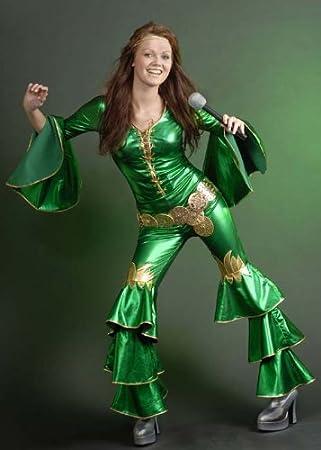 Green Abba Style Dancing Queen Costume (struts-6860) - Women: 8-10 ...