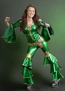 Green Abba Style Dancing Queen Costume (struts-6860) - Women: 8-10 (disfraz)