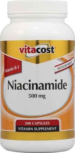 Vitacost Niacinamide (Vitamin B-3) - No Flush Niacin -- 500 mg - 200 Capsules
