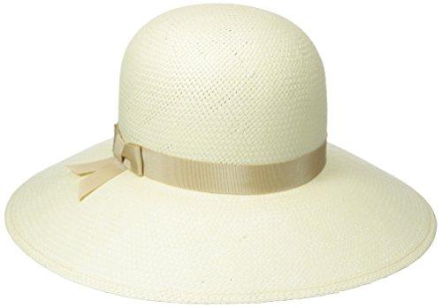 Betmar Women's Aurora II Lite Straw Floppy Hat, Ivory Natural, Small/Medium
