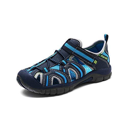 DREAM PAIRS Boys Girls 171112-K Royal NEON Green Light Grey Outdoor Summer Sandals Size 12 M US Little Kid