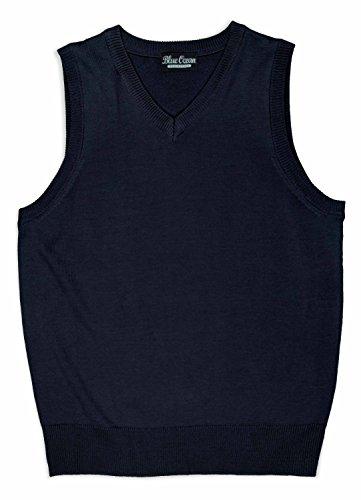 Navy Blue Argyle Sweater - 9