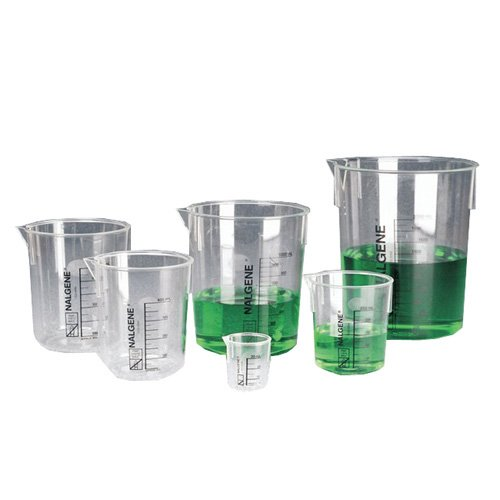 1203-0400 - Nalgene Graduated Griffin Beakers, PMP, Thermo Scientific - Capacity : 400 mL (14 oz.) - Pack of 6
