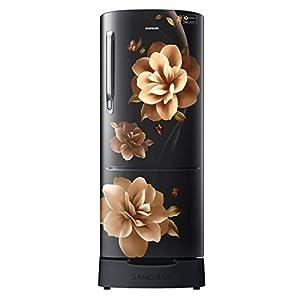 Samsung 192 L 3 Star inverter Direct Cool Single Door Refrigerator (RR20A282YCB/NL, Camellia Black, Base stand drawer)