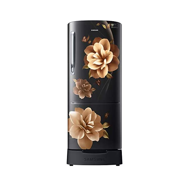 Samsung 192 L 3 Star inverter Direct Cool Single Door Refrigerator (RR20A282YCB/NL, Camellia Black, Base stand drawer) 2021 July Direct-cool refrigerator : economical and Cooling without fluctuation Capacity 192 liters: suitable for families with 2 to 3 members and bachelors Energy rating 3 Star