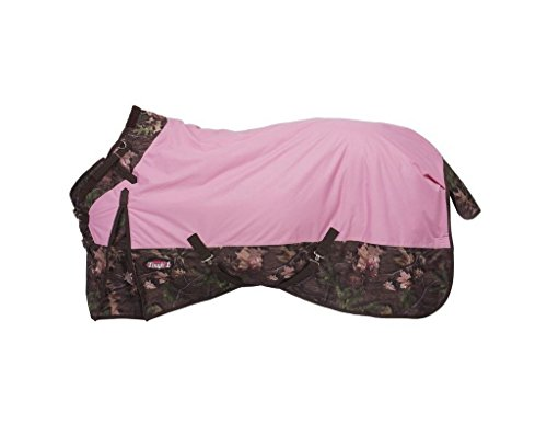 Waterproof Turnout - Tough 1 Timber 1200D Waterproof Poly Snuggit Turnout Blanket, Pink, 63