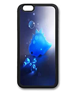 Black Thin & Lightweight Stylish Durable Soft Rubber Case Cover For iPhone 6 Plus TPU Cellphone Back Shell Skin For iPhone 6 Plus with Crystal Dinosaur