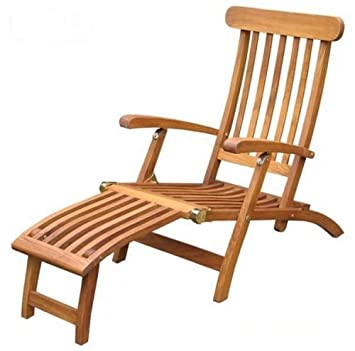 Elegant Solid Commercial Quality Teak Steamer Chair   Folding For Easy Storage