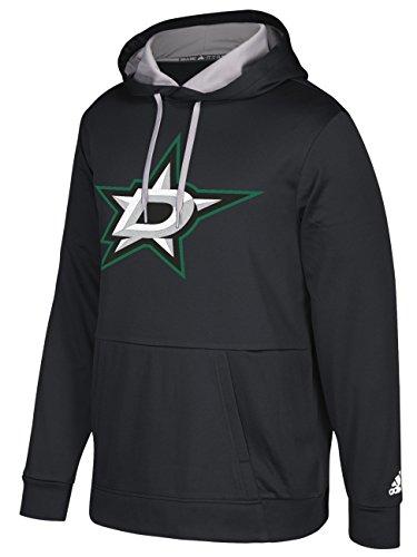 adidas NHL Dallas Stars Mens Authentic Pullover Hoodauthentic Pullover Hood, Black, Medium Dallas Stars Mens Sweatshirts
