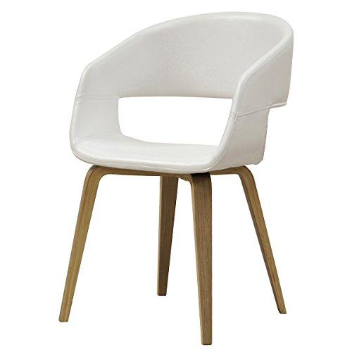 designbotschaft: Luzern Stuhl Weiß/Eiche - Esszimmerstühle 1 Stck ...