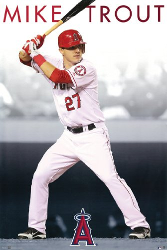 Hot Stuff Enterprise Z37-24x36-NA Angels Mike Trout Poster, 24 x 36 in. from Hot Stuff Enterprise