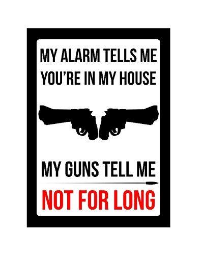 Mi alarma Me dice que estás en mi casa mi Guns Tell Me No ...