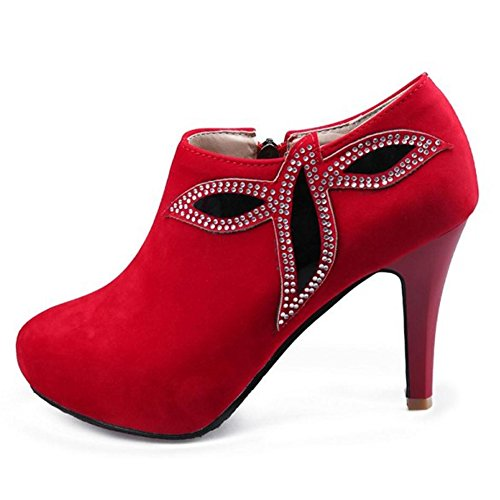 COOLCEPT Botines de Fiesta para Mujer Red-2