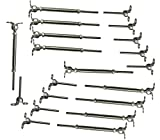 Muzata 10Pack 316 Stainless Steel Cable Railing Kit fits 1/8'' Stainless Steel Wire Rope Cable