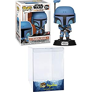 Death Watch Mandalorian [Two Stripes] (GameStop Exc): Funk o Pop! Vinyl Figure Bundle with 1 Compatible 'ToysDiva' Graphic Protector (354 – 46091 – B)