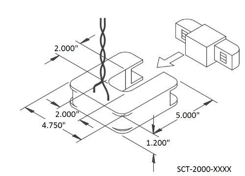 Magnelab Sct 2000 600 Split Core Current Transformer Ct 2 00 Id